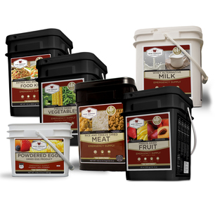Gluten Free Deluxe Kit – 3 Month Supply for 1 Person - 3  GF 84 Serving, 2 Milk , 2 GF Fruit, 2 GF Veggie, 2 GF Protein & 2 Egg