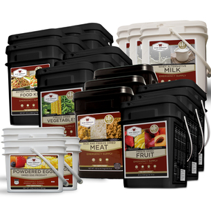 Gluten Free Ultimate Kit – 6  Month Supply for 1 Person - 6 GF 84 Serving, 3 Milk , 3 GF Fruit, 3 GF Veggie, 3 GF Protein & 3 Egg